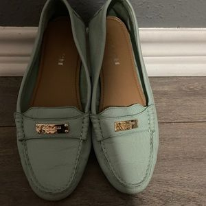 Coach teal loafers